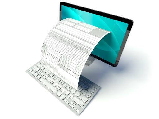 Desktop Computer Screen With Tax Form Or Invoice Notícias E Artigos Contábeis Em Santos | Portal Contabilidade - PORTAL CONTABILIDADE
